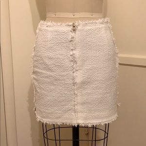 Zara White Tweed Mini Skirt